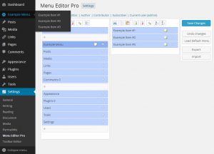 Creating new menus and submenus